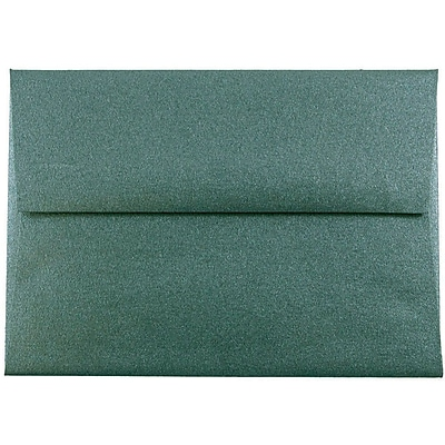 JAM Paper® A2 Invitation Envelopes, 4 3/8 x 5 3/4, Emerald Metallic, 1000/carton (67531722b)