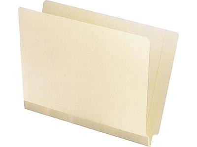 Pendaflex Reinforced End-Tab File Folders, Straight-Cut Tab, Letter Size, Manila, 100/Box (11035)