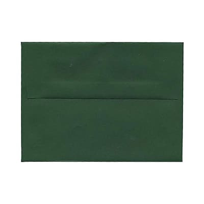 JAM Paper® A6 Invitation Envelopes, 4.75 x 6.5, Dark Green, 250/pack (3157346h)
