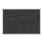 Balt Presidential Trim Rubber-Tak Bulletin Board, Silver Frame, 4' x 3' (321PC)