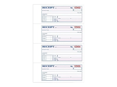 TOPS 2-Part Carbonless Receipts Book, 2.75