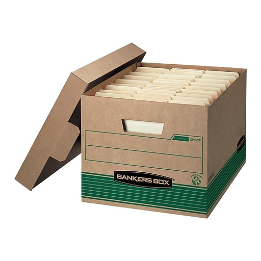 """Lift-Off Locking Lid Bankers Box® Stor//File™ 60/% Recycled Storage Box 24/"""" x 15"""