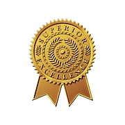 """Great Papers! Star Burst Certificate Seals, 2"""" x 1"""", Gold, 48/Pack (903418)"""