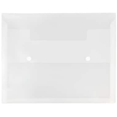 JAM Paper® Plastic Portfolio with Two Button Snap Closure, 1