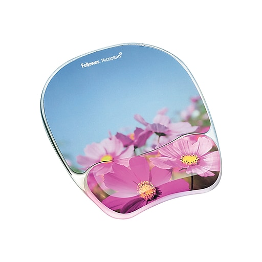Fellowes Photo Gel Mouse Pad/Wrist Rest Combo, Multicolor (9179001)