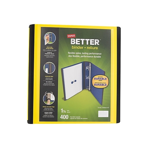 Shop Staples For Staples Better 1.5-Inch D 3-Ring View