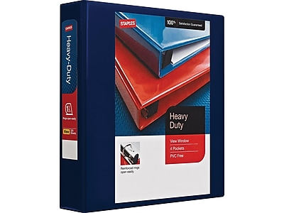 Avery Heavy-Duty Reference View Binder with 4-Inch One Touch EZD Ring Navy Blue 79804