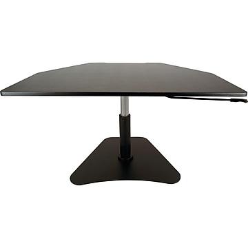 "Victor Technology High Rise Adjustable Standing Desk Converter, 28"" W, Laminate Wood (DC200)"