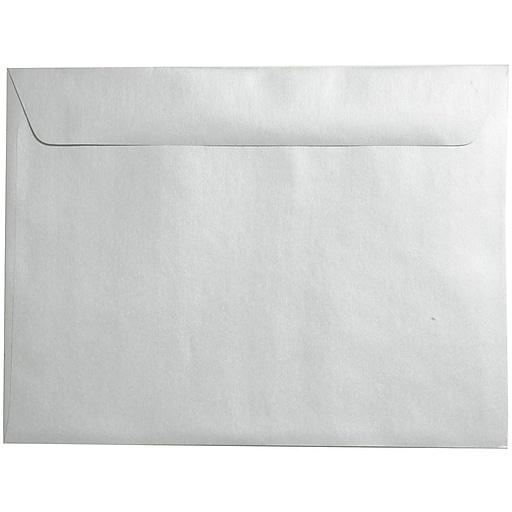 JAM Paper® 9 x 12 Metallic Booklet Envelopes, Stardream Silver, 50/Pack (85818i)