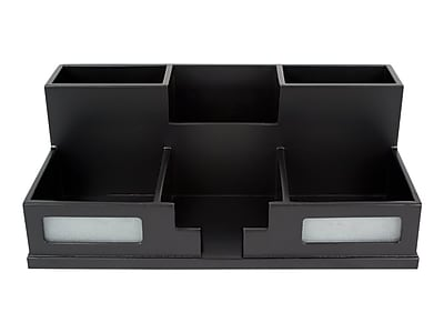 Victor Midnight Black Collection Wood Compartment Storage, Black (9525-5)