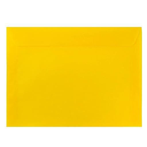 JAM Paper® 9 x 12 Booklet Catalog Translucent Vellum Envelopes, Sun Yellow, 25/Pack (24632024)