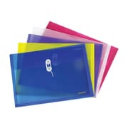 Staples Poly Wallets, Size-Opening, Legal Size, Assorted Colors, 5/Pack (10768)
