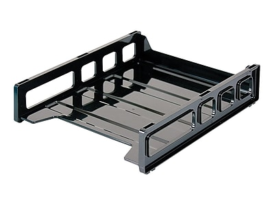 Staples Stackable Desk Trays, Front Load Letter Size (DPS03535) | Staples