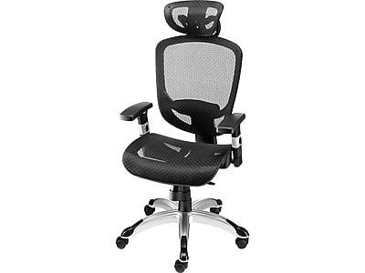 Staples Hyken Mesh Task Chair, Black (23481-CC)