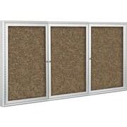 Best-Rite Enclosed Rubber-Tak Bulletin Board, Silver Frame, 8' x 4' (94PSH-I)