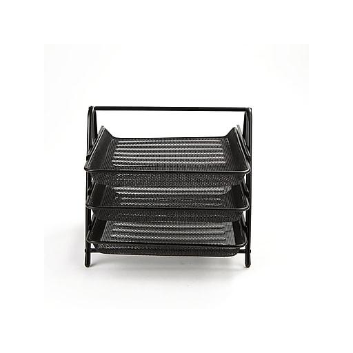 bfaefcbfe Mind Reader Front Loading Letter Tray, Black Steel (3TPAPER-BLK).  https://www.staples-3p.com/s7/is/