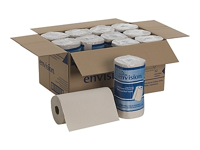 Pacific Blue Basic Hardwound Paper Towels, 2-ply, 250 Sheets/Roll, 12 Rolls/Carton (28290)