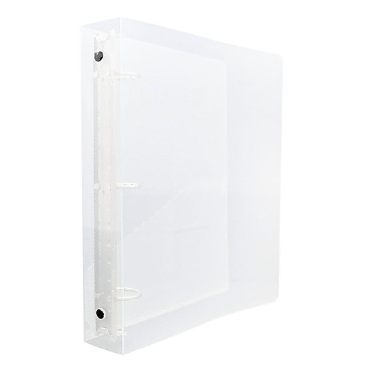 jam paper mini plastic 3 ring binder 1 1 2 inch clear sold