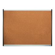 Staples Durable Cork Bulletin Board, Black/Silver Frame, 2' x 1.5' (28215-US/79373)