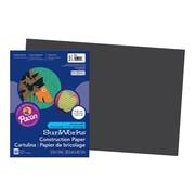 "SunWorks 12""W x 18""L Construction Paper, Black, 50/Pack (6307)"