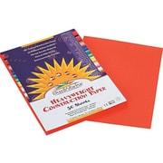 "SunWorks 9""W x 12""L Construction Paper, Orange, 50/Pack (6603)"