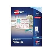 """Avery Matte Postcards, 5.5"""" x 4.25"""", White, 200/Box (8387)"""