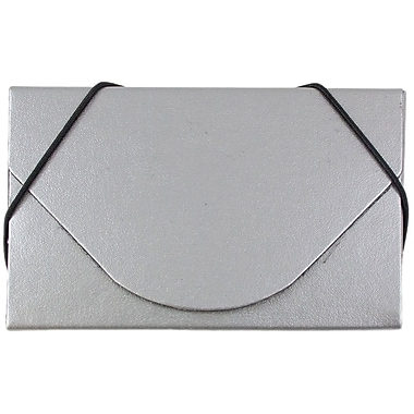 JAM Paper® Business Card Case, Matte Silver