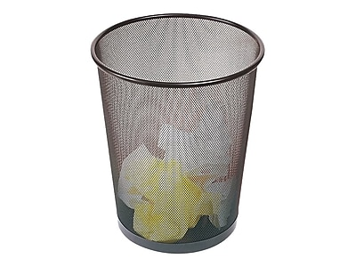 Brighton Professional Indoor Trash Can Without Lid, Black Steel Mesh, 5 Gal. (22182)