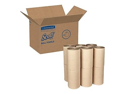 Scott Essential Hardwound Paper Towels, 1-Ply, 12 Rolls/Carton (02021)