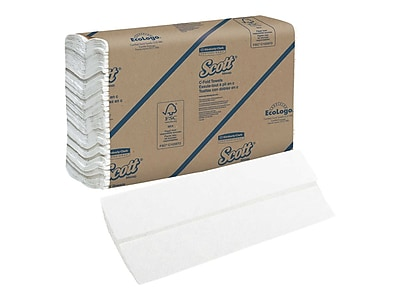 Scott Essential C-Fold Paper Towels, 1-Ply, 200 Sheets/Pack, 12 Packs/Carton (02920)