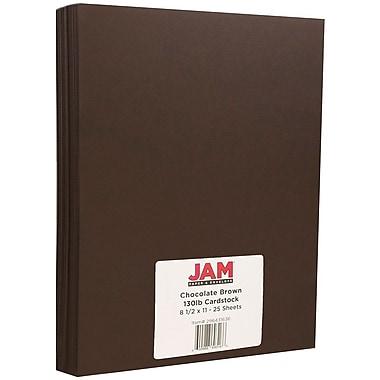JAM Paper – Papier cartonné mat, 8,5 x 11 po, 130 lb, brun chocolat, 25/paquet (296431636)