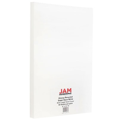 JAM Paper® Glossy Legal Cardstock 2-Sided, 8.5