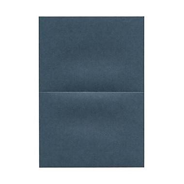 JAM Paper® Blank Foldover Cards, 5 x 7, Stardream Metallic Malachite Dark Blue, 50/pack
