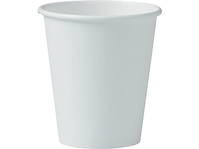 Solo Hot Cups, 6 Oz., White, 1000/Carton