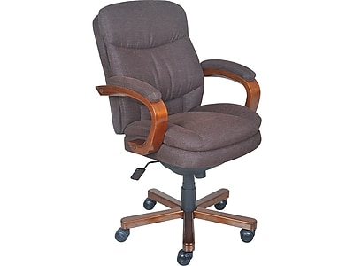 La Z Boy Faye Fabric Managers Office Chair Fixed Arms Chocolate