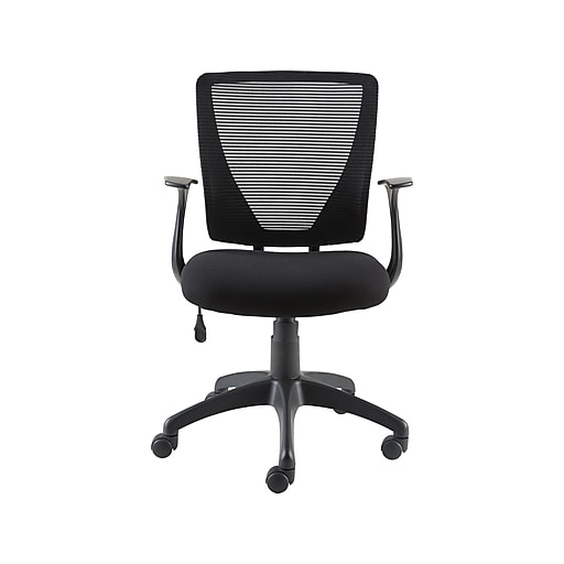 Staples Vexa Mesh Back Fabric Computer and Desk Chair, Black (27372-CC)