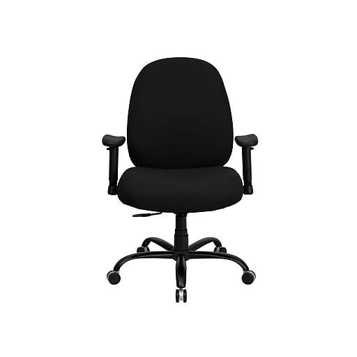 Flash Furniture Hercules Series 400 Lb Capacity And Tall Fabric Office Chair Black Staples