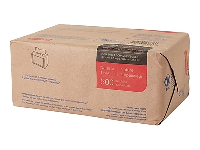 Staples Tork Xpressnap Luncheon Napkin, 1-Ply, Natural, 4000/Carton (26970CT/50579CT)