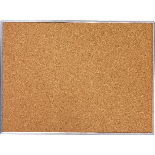 Quartet Cork Bulletin Board, Aluminum Frame, 8' x 4' (85349)