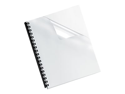 Oversize Letter 52311 100 Pack Fellowes Binding Presentation Covers Clear