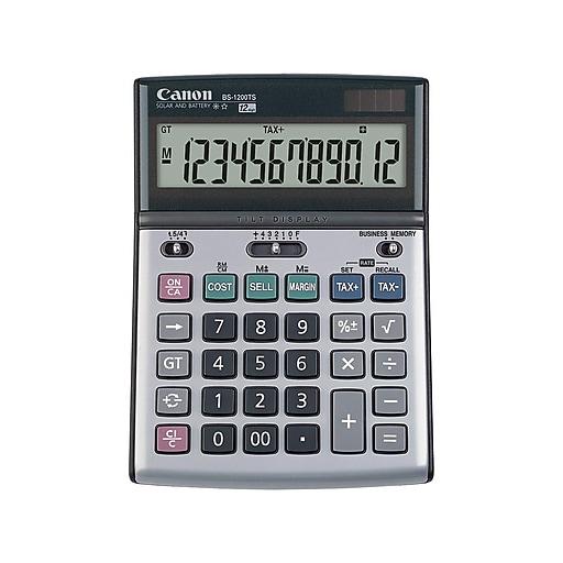 Canon BS-1200TS 8507A010AA 12-Digit Desktop Calculator, Metallic