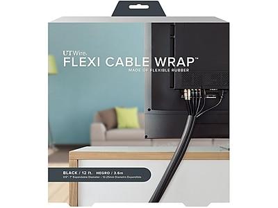 UT Wire Rubber Wrap, 12'L, Black (UTW-FCW12-BK)