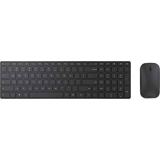 8dbedbdc1d7 Microsoft Designer Desktop, Wireless Bluetooth Mouse and Keyboard Combo,  Black (7N9-00001) | Staples