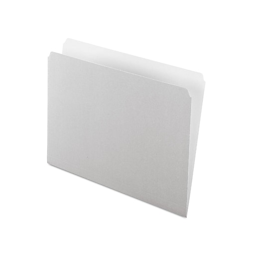 Pendaflex Two-Tone File Folders, Straight-Cut Tab, Letter Size, Gray, 100/Box (PFX 152 GRA)