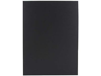 JAM Paper 2-Pocket Presentation Folders, Black Linen, 100/Box (99594)