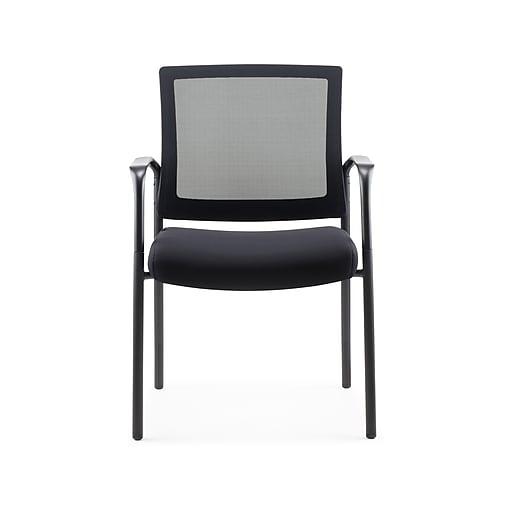 Staples Dedham Mesh Back Fabric Guest Chair, Black (51479-CC)