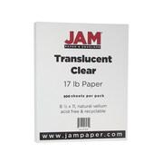 """JAM Paper Multipurpose Paper, 17 lbs, 8.5"""" x 11"""", Translucent Clear Vellum, 500/Ream (1379)"""