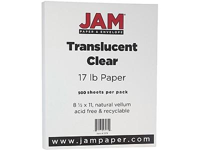 JAM Paper Multipurpose Paper, 17 lbs, 8.5