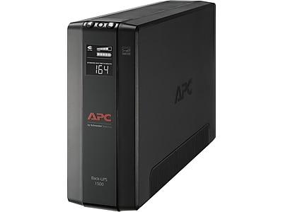 APC Back UPS Pro Battery Backup and Surge Protector, Compact Tower, 1500VA, AVR, LCD, 120V, Black (BX1500M)
