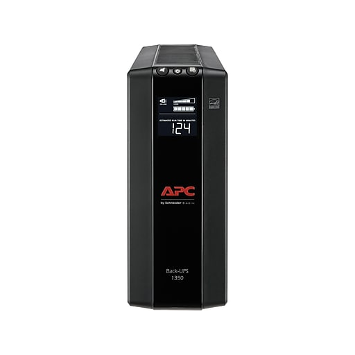 APC Back UPS Pro Battery Backup and Surge Protector, Compact Tower, 1350VA,  AVR, LCD, 120V, Black (BX1350M)